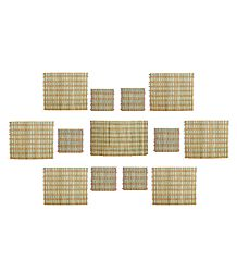 13 Pieces Dining Table Mats Made Bamboo
