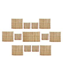 Dining Table Mats Made with Bamboo