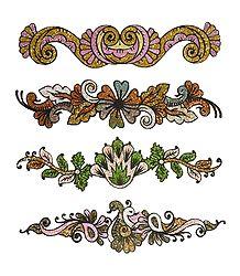 Set of 4 Glitter Bracelet Tattoos