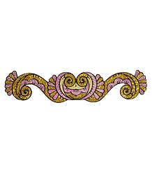 Pink and Golden Glitter Bracelet Tattoo