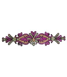 Magenta Glitter Bracelet Tattoo