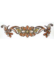 Rust with Silver Glitter Bracelet Tattoo