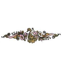 Light Pink and Golden Glitter Bracelet Tattoo