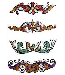 Multicolor Glitter Sticker Tattoos