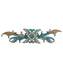 Cyan Glitter Bracelet Tattoo