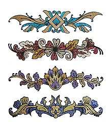 Set of 4 Glitter Bracelet Sticker Tattoos