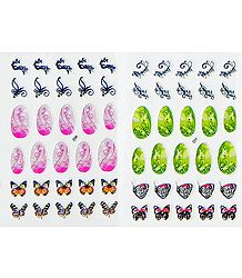 2 Printed Sheets of Decorative Sticker for Nails