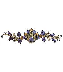 Purple with Golden Glitter Bracelet Tattoo