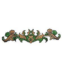 Green and Golden Glitter Bracelet Tattoo