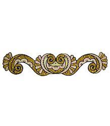 Golden Glitter Bracelet Tattoo