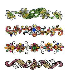Buy Multicolor Glitter Sticker Tattoos