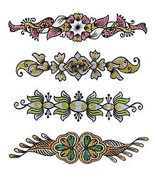 Set of 4 Glitter Tattoos
