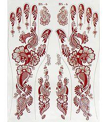 Glitter Sticker Mehendi for Hand and Body Decor