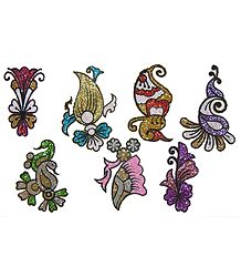 Set of7 Multicolor Glitter Tattoos
