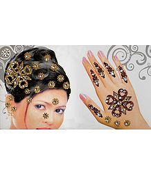 Hair and Hand Stick-on Decoration