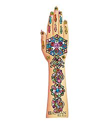 Multicolor Stone Studded Mehendi for Single Hand