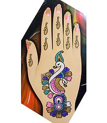 Colorful Sticker Mehendi