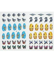 2 Decorative Sheets of Sticker for Nails