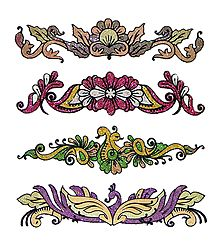Set of 4 Designer Glitter Tattoos