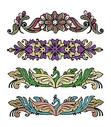 Set of 4 Multicolor Glitter Tattoos