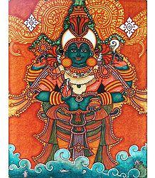 Dhanvantari Mural Poster