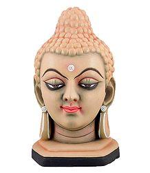 Terracotta Buddha Face