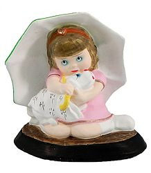 Cute Doll Statue of Plaster of Paris