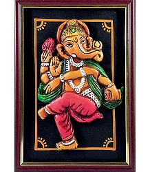 Dancing Ganesha Wall Hanging