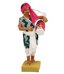 Shop Online Terracotta Statue of Drum Player