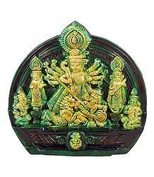 Mahishasuramardini Durga - Terracotta Statue