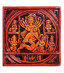 Terracotta Durga Wall Hanging