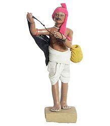 Fisherman - Terracotta Statue