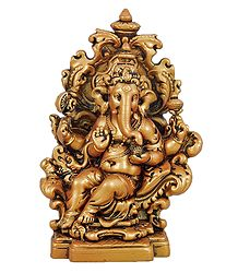 Ganesha Sitting on Throne