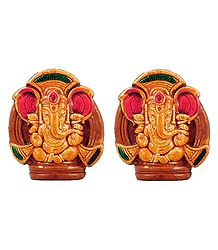 Set of 2 Ganapati