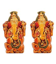 Pair of Gajanan - Terracotta Statue