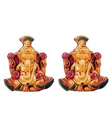 Pair of Vinayak - Terracotta Statue