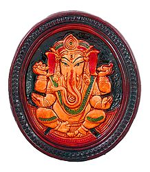 Terracotta Lord Ganesha Wall Hanging