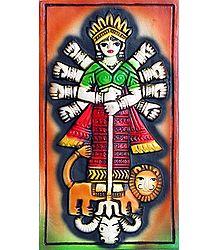 Goddess Durga Slaying Mahishasura - Wall Hanging