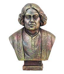 Bengali Poet Kazi Nazrul Islam - Terracotta Sculpture