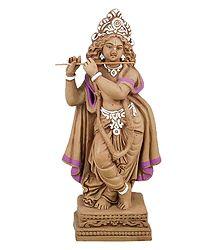 Terracotta Krishna Statue