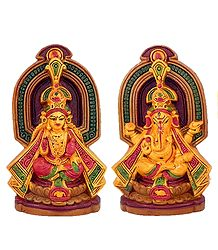 Lakshmi and Ganesha - Set of 2