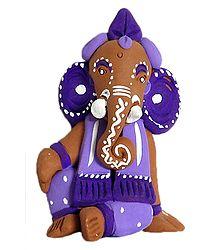 Terracotta Lord Ganesha Statue