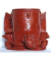 Lord Ganesha - Terracotta Flower Vase
