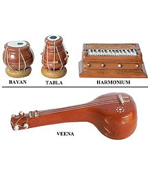 Terracotta Musical Instruments - Decoration Pieces