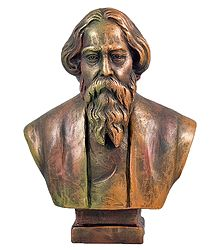 Noble Laureate Rabindranath Tagore - Terracotta Sculpture