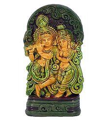 Terracotta Radha Krishna
