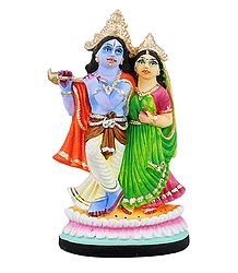 Buy Radha Krishna Statue - Plaster of Paris