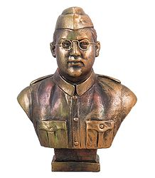 Netaji Subhas Chandra Bose - Terracotta Sculpture