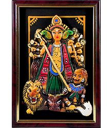 Buy Online Terracotta Durga Wall Hanging
