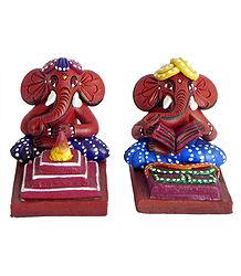Terracotta Statues of Ganesha
